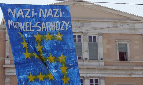 Protests-Athens-Merkel-Sarkozy-Greek-bailout